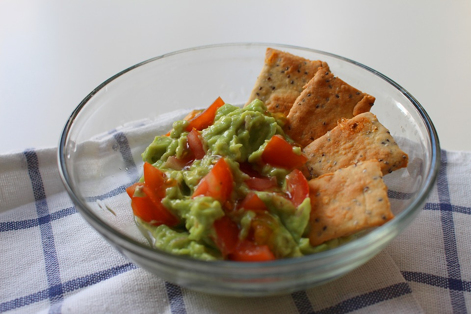 Crackers and Guacamole