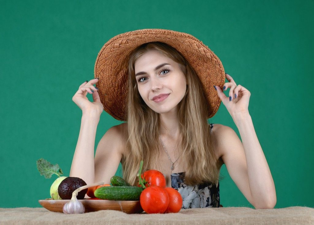 Happy healthy woman after taking daily vitamins